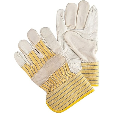 Zenith Safety Cowhide Fitters Gloves, Superior Quality, Unlined Grain, Large Size, 24/Pack