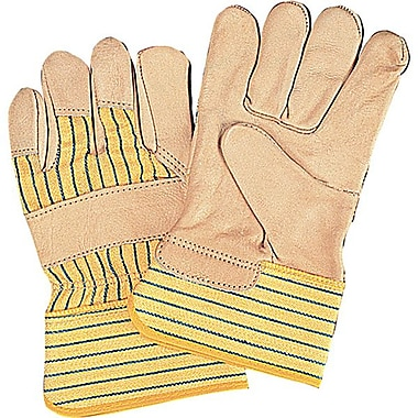 Zenith Safety Cowhide Fitters Gloves, Superior Quality, Lined Grain, Medium Size, 24/Pack