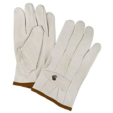 Zenith Safety Grain Cowhide Ropers Gloves, Medium Size, 12/Pack