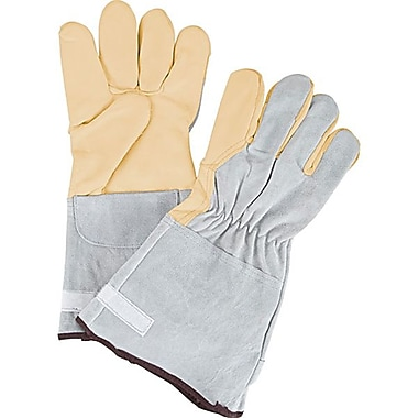 Zenith Safety Goat Grain Premium Quality Fleece-Lined Gloves, Medium Size, 12/Pack