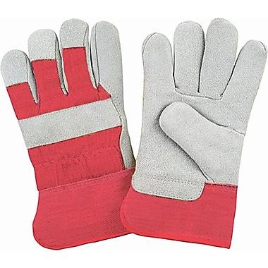 Zenith Safety Split Cowhide Fitters Gloves, Foam Fleece Lined, Medium Size, 24/Pack