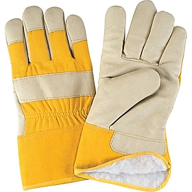 Zenith Safety Grain Pigskin Fitters Acrylic Boa-Lined Gloves, L, 12/Pack