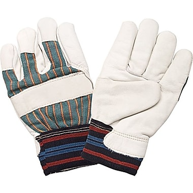 Zenith Safety Superior Quality Grain Cowhide Gloves, Full Cotton Fleece Lined, Large Size, 12/Pack
