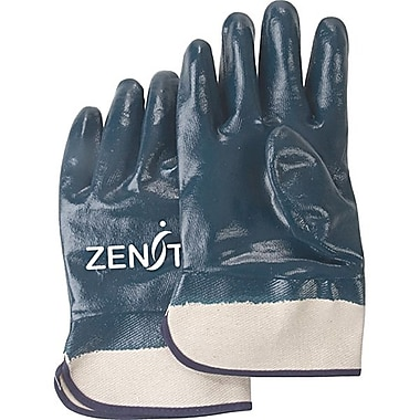 Zenith Safety Heavyweight Nitrile Coated Safety Cuff Gloves, Size 10, Fully Coated, 24/Pack