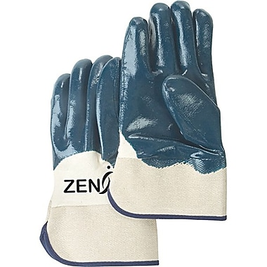 Zenith Safety Heavyweight Nitrile Coated Safety Cuff Gloves, Size 10, Palm Coated, 24/Pack