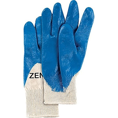 Zenith Safety Medium Weight Nitrile 3/4 Coated Gloves, Size 8, 36/Pack