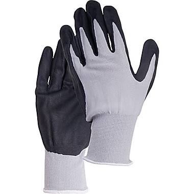 Zenith Safety Breathable Lightweight Nitrile Foam Palm Coated Gloves, Size 10, 36/Pack