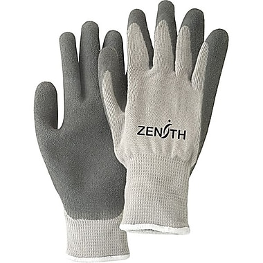 Zenith Safety Natural Rubber Latex Palm Coated Fleece Lined Gloves, Size 9, 24/Pack