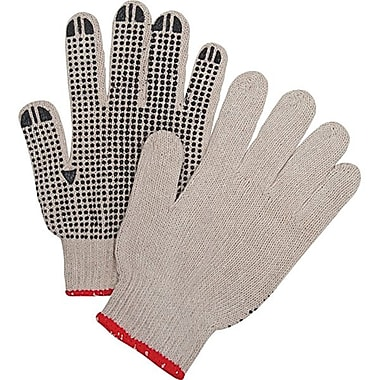 Zenith Safety Natural Poly/Cotton Single Side Dotted Gloves, Large Size, 120/Pack
