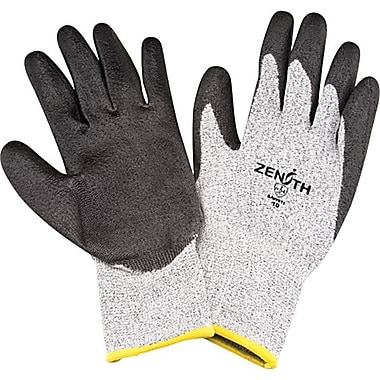 Zenith Safety HPPE Polyurethane-Coated Gloves, Size 8, 6/Pack