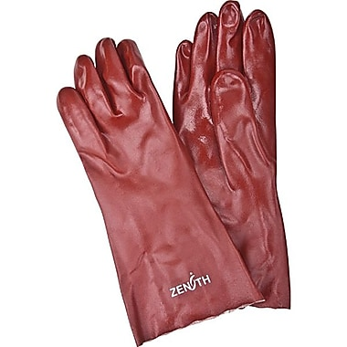 Zenith Safety PVC Smooth Finish Gloves, Length 14