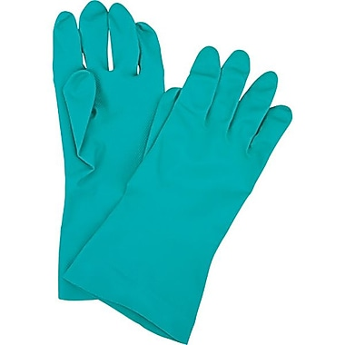 Zenith Safety Unlined 15 Mil Green Nitrile Gloves, Size 10, 36/Pack