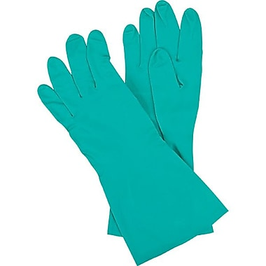 Zenith Safety Flocked Lined Green Nitrile Gloves, Size 11, 36/Pack