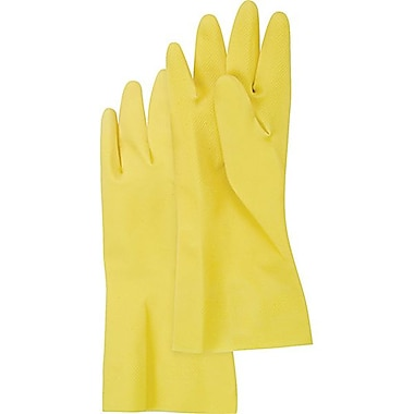 Zenith Safety Natural Rubber Latex Cotton Flock Lined Gloves , Size 9, 72/Pack
