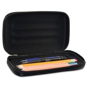 Advantus® Large Soft-Sided Pencil Case, Black