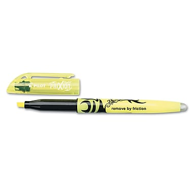 Pilot® FriXion Light Erasable Highlighter, Chisel Tip, Yellow Ink, 12/Pack