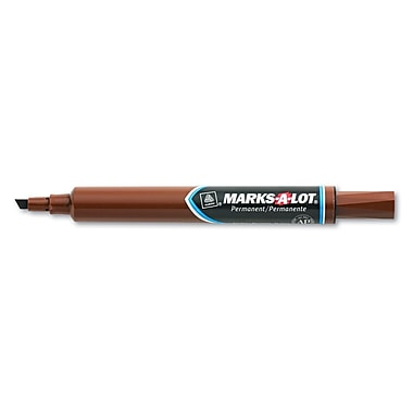 Avery® Marks-A-Lot® Permanent Marker, Large Chisel Tip, Brown