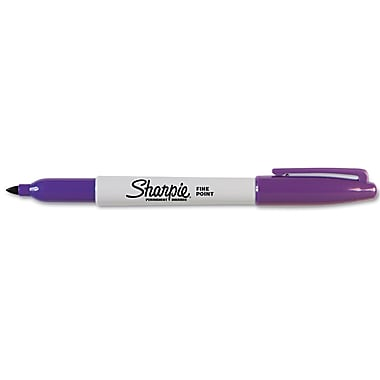Sharpie™ Permanent Marker, Fine Tip, Purple, Each
