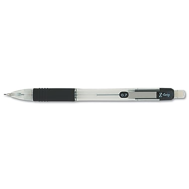 Zebra Z-Grip 0.7 mm Mechanical Pencil, Dozen, Clear/Black