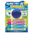 Sanford® Washable Dry Erase Marker Starter Set With Eraser, Med Point Tip, Assorted, 4/Pack