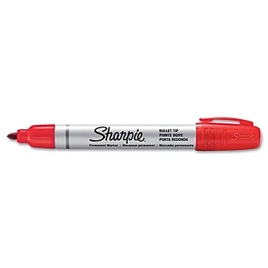 Sharpie™ Pro Permanent Marker, Bullet Tip, Red, Each