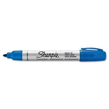 Sharpie™ Pro Permanent Marker, Bullet Tip, Blue, Each