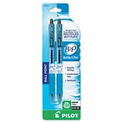 Pilot® B2P Ball 1 mm Recycled Ballpoint Pen, Black, 2/Pack