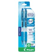 Pilot® B2P Ball 1 mm Recycled Ballpoint Pen, 2/Pack, Blue