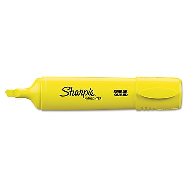 Sharpie® Accent Highlighter, Chisel Tip, Yellow, Each