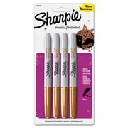 Sharpie™ Permanent Marker, Metallic Fine Tip, Bronze, 4/Pack