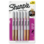 Sharpie™ Permanent Marker, Metallic Fine Tip, Assorted, 6/Pack (1829201)