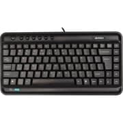 Ergoguys A4Tech® KLS-5 Ultra-Slim Profile Ergonomic Keyboard, Black