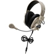 Califone® Deluxe Multimedia Stereo Headset With Boom Microphone, Black