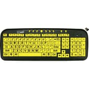 DataCal EZSee Wireless USB Wireless Large Print Keyboard, Yellow/Black