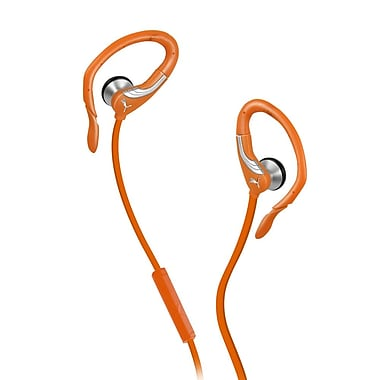 Puma 360 Pro Performance Sport Earbuds with Microphone, Orange
