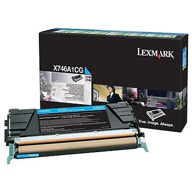 Lexmark X746 Cyan Return Program Toner Cartridge X746A1CG