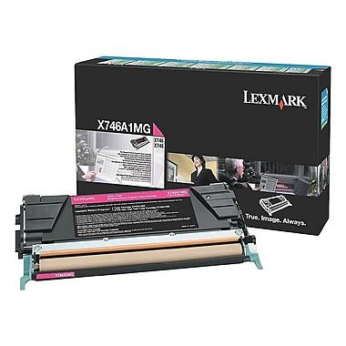 Lexmark – Cartouche de toner magenta X746 avec programme de retour, X746A1MG