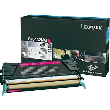 Lexmark – Cartouche de toner magenta C734/X734 (C734A2MG)