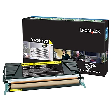 Lexmark X748 Yellow High Yield Return Program Toner Cartridge X748H1YG