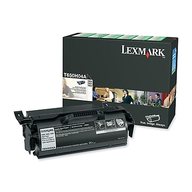 Lexmark T650H04A Black Return Program Toner Cartridge, High Yield