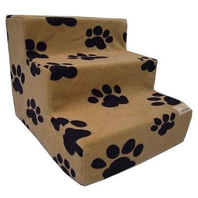 Best Pet Supplies Pet Stairs in Beige Fleece; 5-Steps