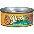 9 Lives Chicken and Tuna Dinner Cat Food (5.5-oz, case of 24)