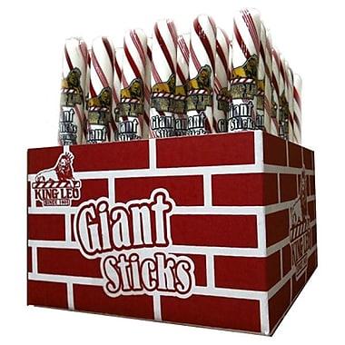 King Leo Giant Peppermint Sticks, 3.5 oz., 48 Pieces/Box