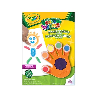 Crayola® Color Wonder™ Fingerpaints And Paper