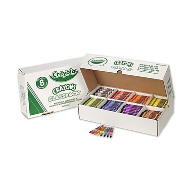Crayola® Regular Crayons Classpack®, Assorted, 8 Colours, 800/Pack