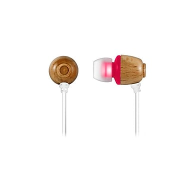 Zenex® EP5500 Wooden Chamber Acoustic In-Ear Headphones, Pink
