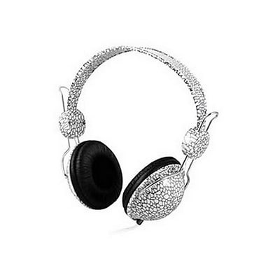 Zenex® EP5445 Graphic Collection Over-The-Head Headphones, White Mosaic