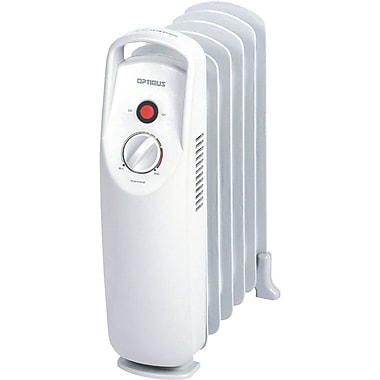 Optimus H-6002 Mini Portable Oil Filled Radiator Heater, White