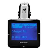 "Supersonic® IQ-206 Wireless FM Transmitter With 1.4"" Display, Black"