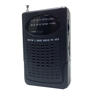 Supersonic® SC-1103 Compact AM/FM Pocket Radio With Built-In Speaker